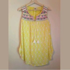 Anthropologie One September Embroidered Top Sz M